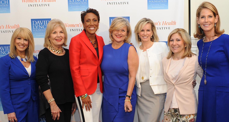 From left: Dr. Suzanne Steinbaum, Patricia Harrison, Robin Roberts, Cynthia McFadden, Dr. Jennifer Ashton, Lesley Seymour, Perri Peltz